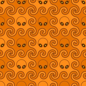 00771566 : pumpkin head octopod : O-