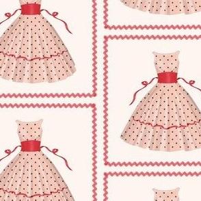 Red Ribbon And Polka Dot Dress