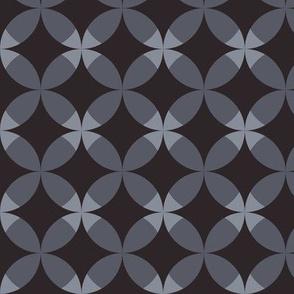 Gray rhombuses.
