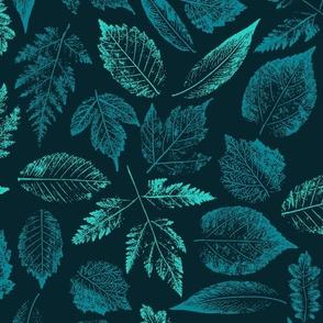 Big leaf prints.