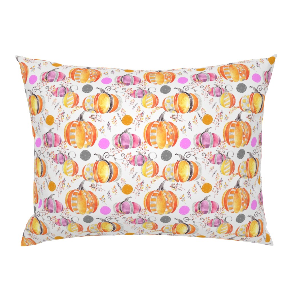 Campine Pillow Sham featuring Pretty Pumpkins by floramoon