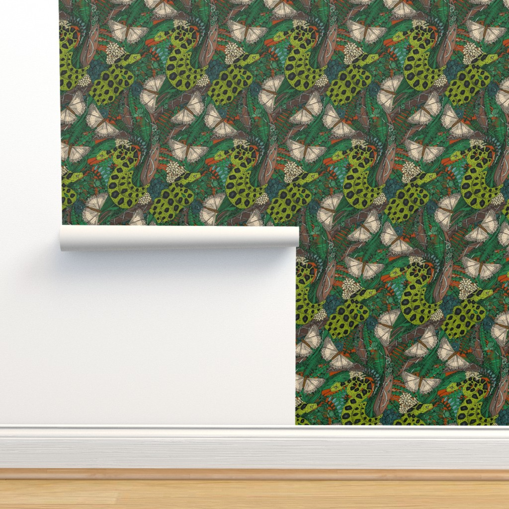Isobar Durable Wallpaper featuring entangled forest rust by scrummy