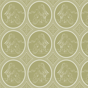 Grisaille Antique Gold Neo-Classical Ovals
