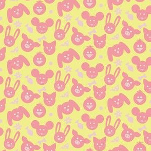 Ditsy Animals - Yellow