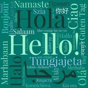 Green Hello Multilingual