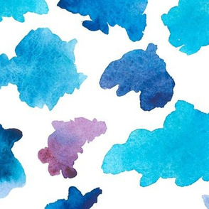 Watercolor pattern of the cloud