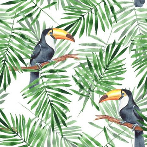 Palm leaves and Toucan (2)