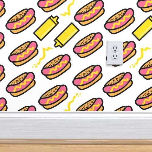 Wallpaper Aloha Hot Dog With Mustard