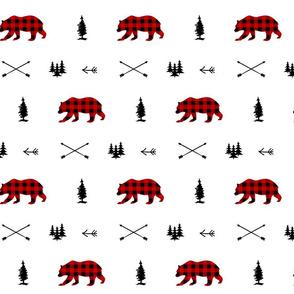 Woodland Bear Plaid