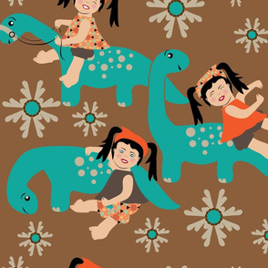 Dino Loves Miss  Princess Awesome, Large Print, Stem, dinosaur,  girl