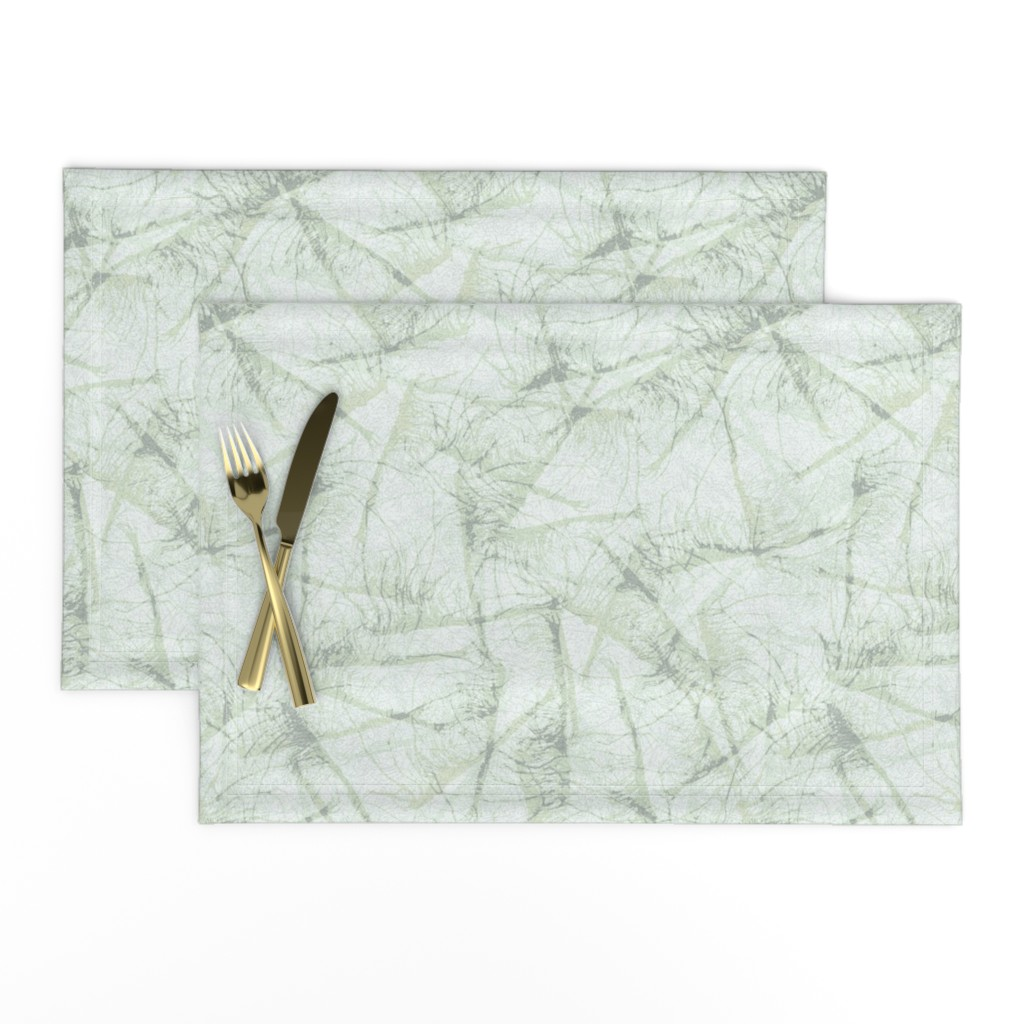 Lamona Cloth Placemats featuring roots-ink-sage-mint by wren_leyland