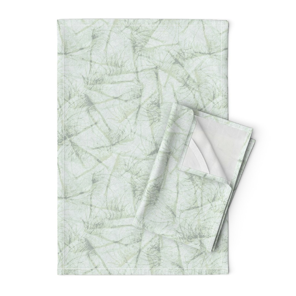 Orpington Tea Towels featuring roots-ink-sage-mint by wren_leyland