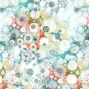 whimsical circles of light in watercolor and ink whimsical pattern Nucleus