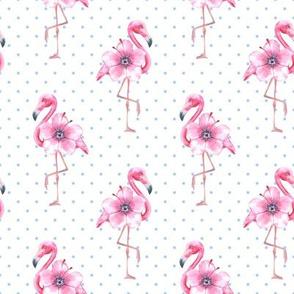 Flamingo and polka dot