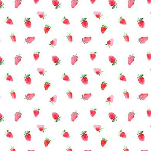 Baby strawberries, tiny scale    watercolor pattern for nursery