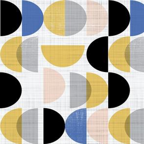 Bauhaus semi circles - large scale