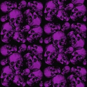 Purple small skulls