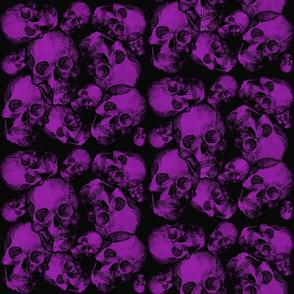 Large purple skulls gothic