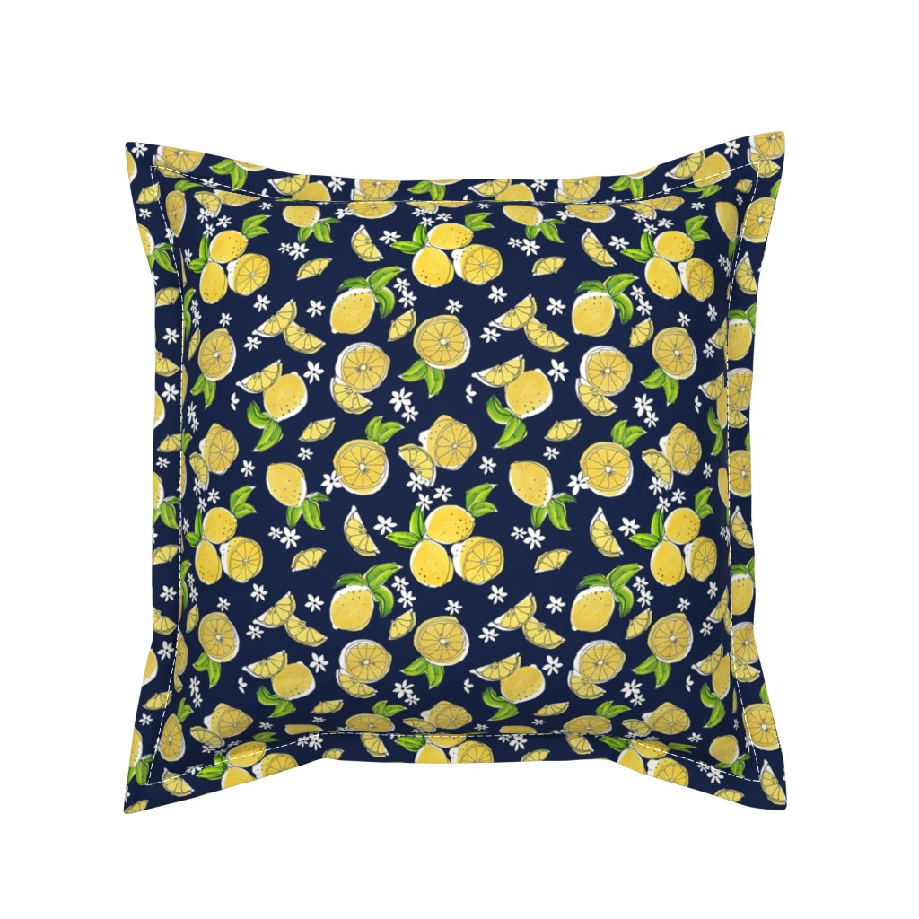 Serama Throw Pillow featuring Summertime Limes by lollymama