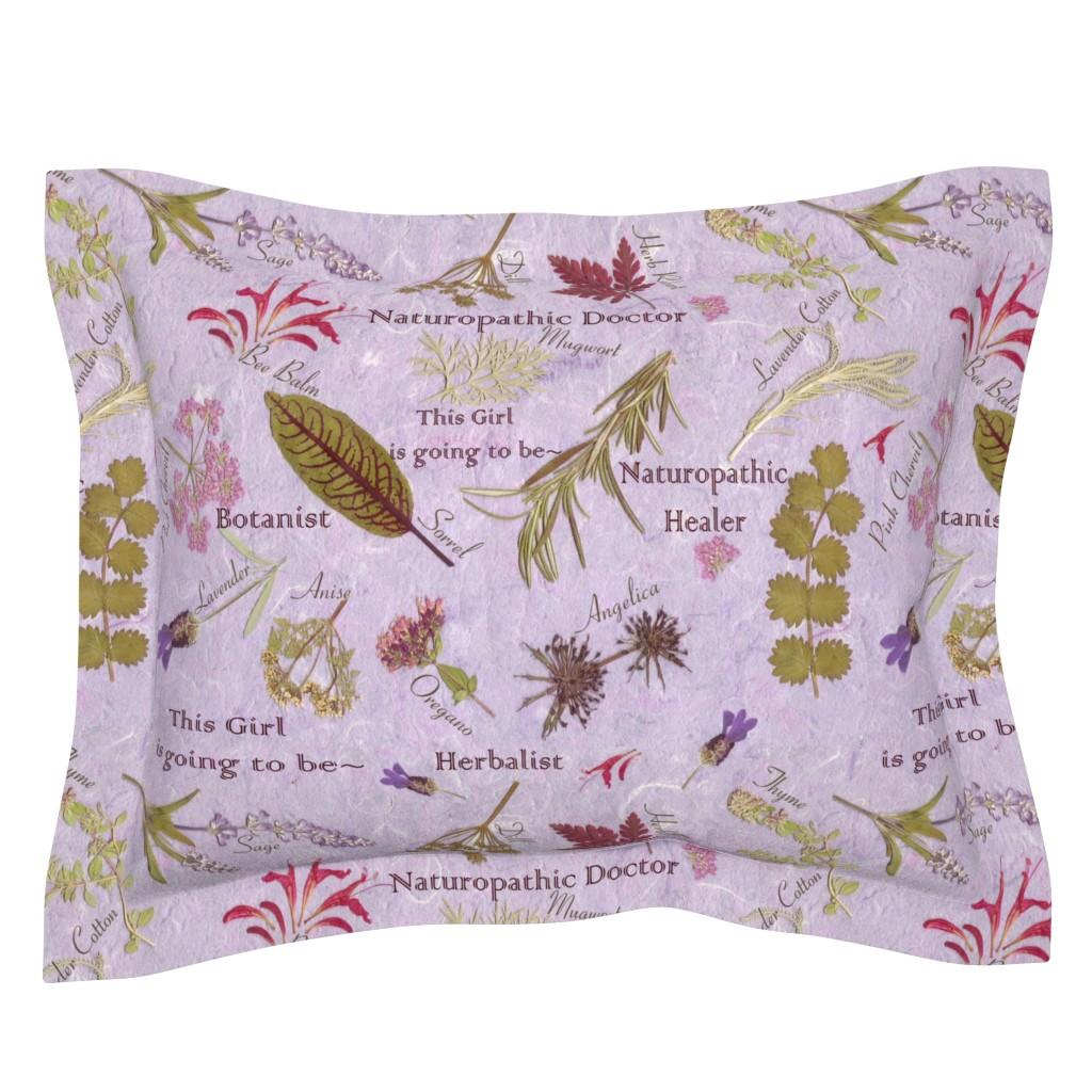 Sebright Pillow Sham featuring Naturopathic Princess by mypetalpress