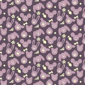 Ditsy Animals - Purple