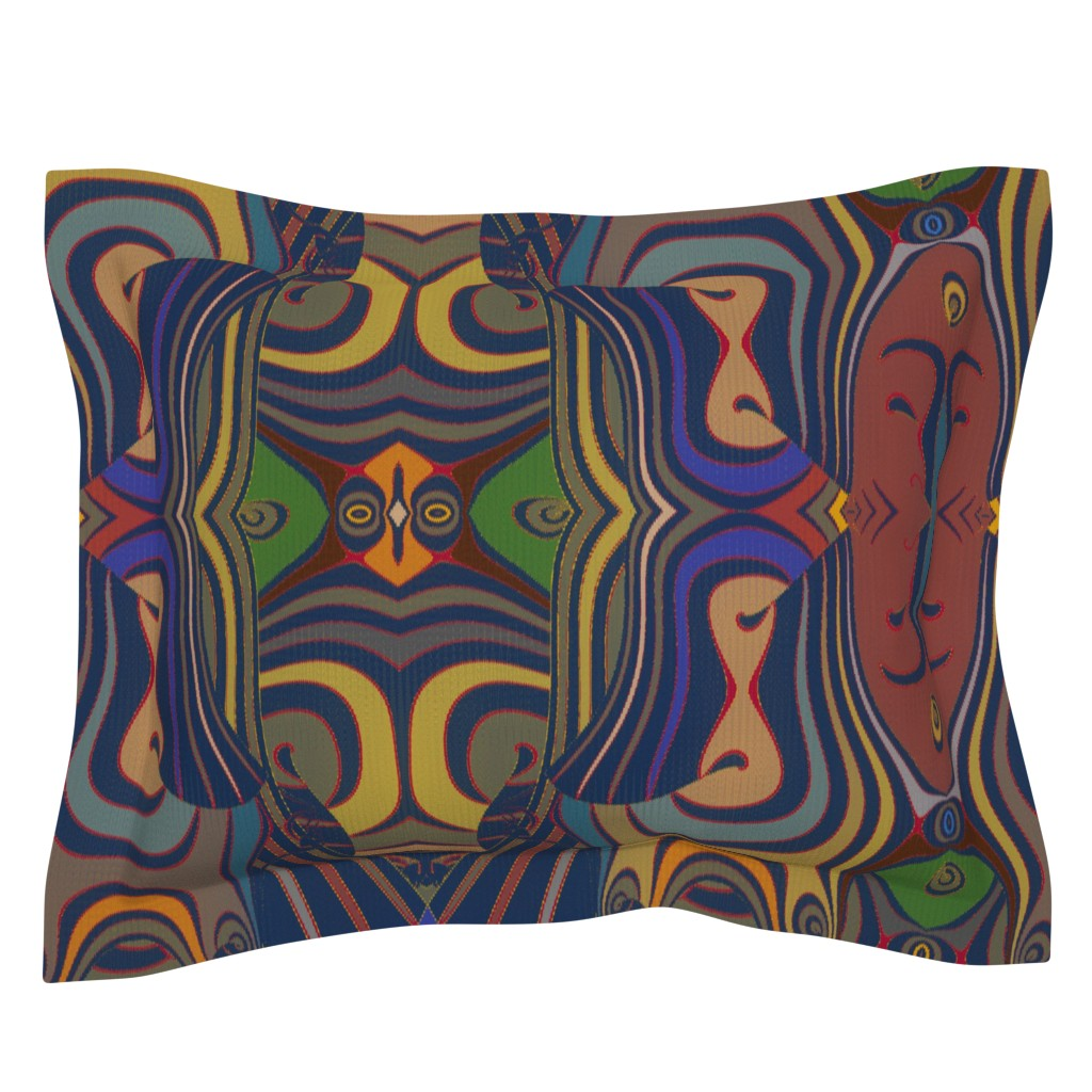 Sebright Pillow Sham featuring Goyagan by david_kent_collections