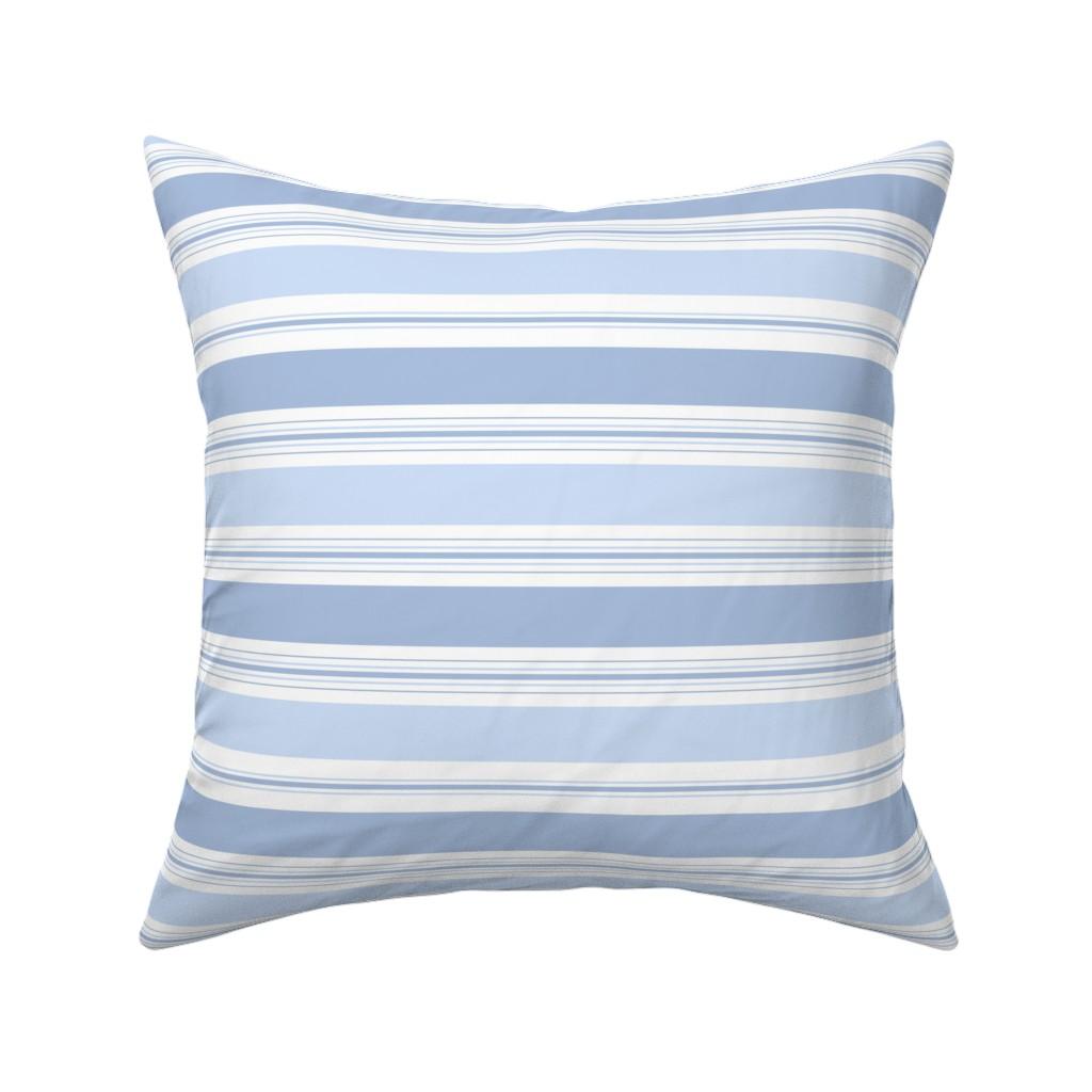 Catalan Throw Pillow featuring Lake Stripe blueberry by lilyoake