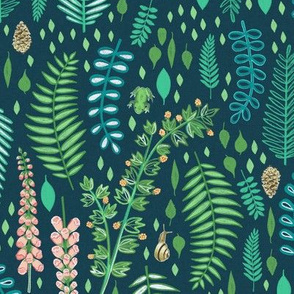Emerald Forest on Turquoise