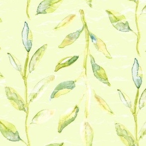 Large scale Watercolor leaf leaves green avocado poppy forrest lime tree plant _ Miss Chiff Designs