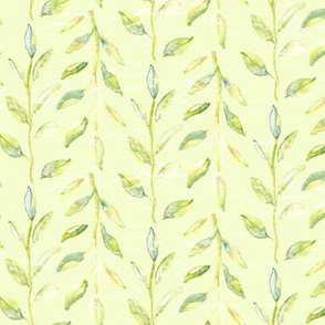 Watercolor leaf leaves green avocado poppy forrest lime _ Miss Chiff Designs