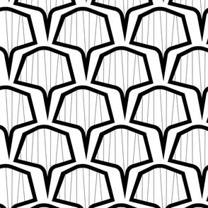 hex fan bw pattern-05
