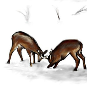 Deers_in_the_spring_fight