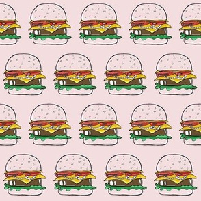 Blush burgers small scale