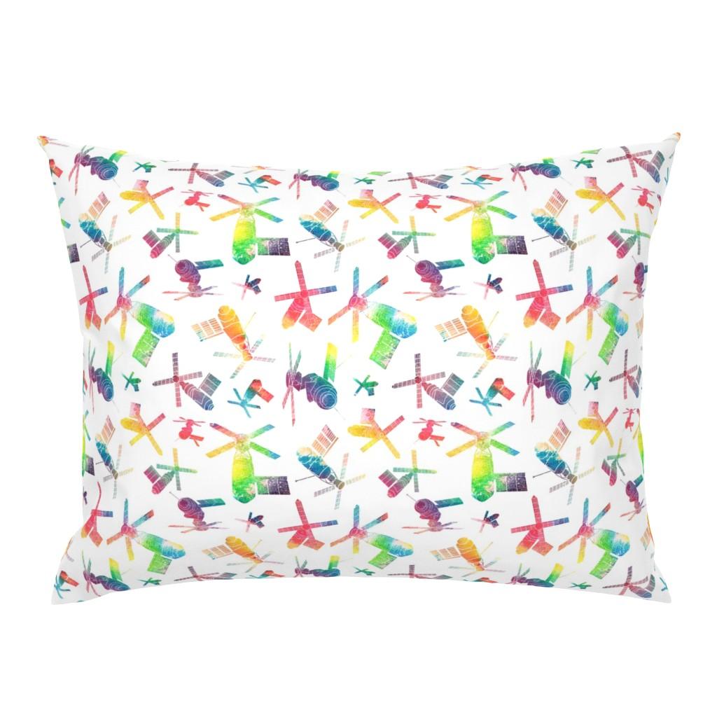 Campine Pillow Sham featuring Skylab - watercolour rainbow 2 by emeryallardsmith