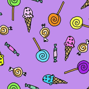 Candy Scatter Purple