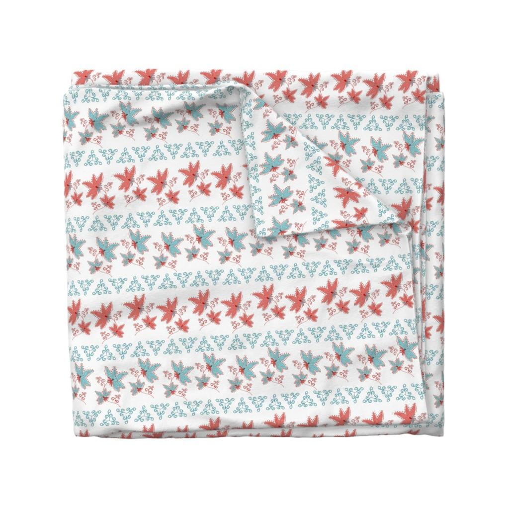 Wyandotte Duvet Cover featuring floral pattern by katrinkastem
