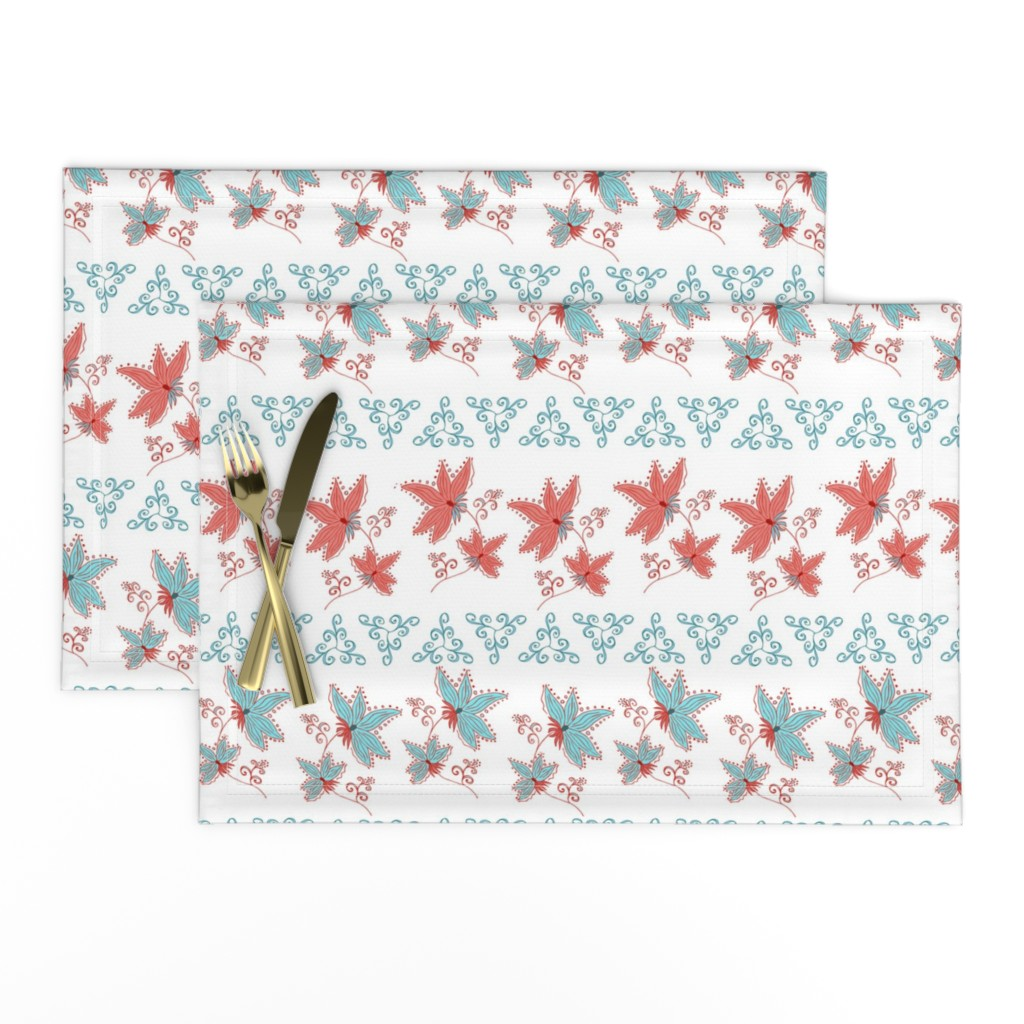 Lamona Cloth Placemats featuring floral pattern by katrinkastem