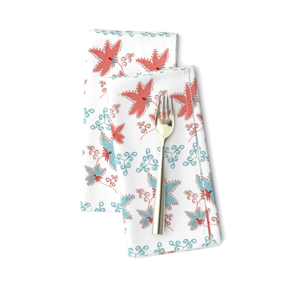 Amarela Dinner Napkins featuring floral pattern by katrinkastem