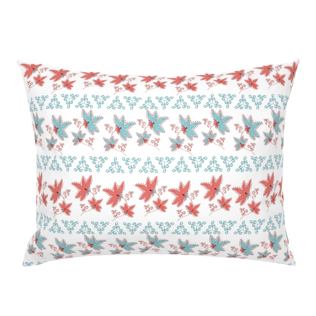 Campine Pillow Sham featuring floral pattern by katrinkastem