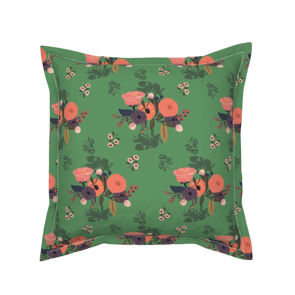 Serama Throw Pillow featuring emerald forest by adelaidebtq