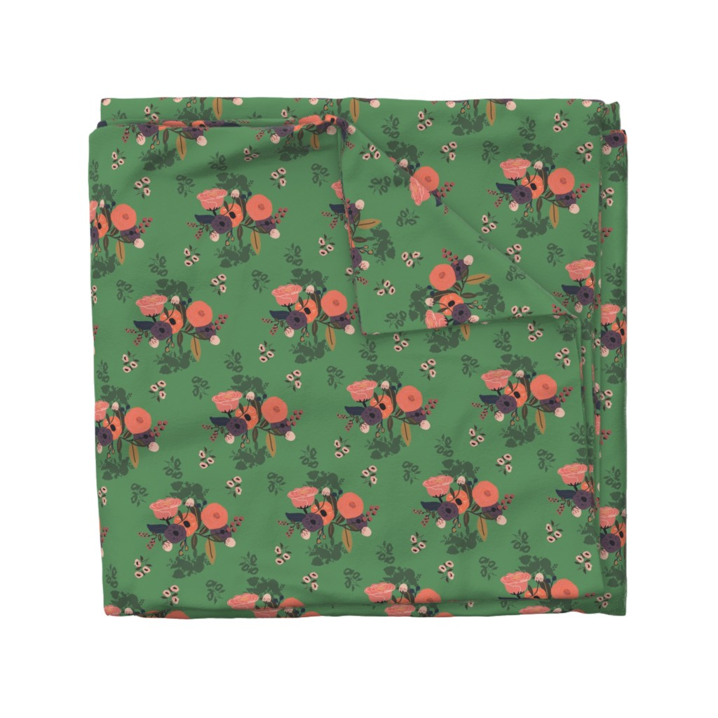 Wyandotte Duvet Cover featuring emerald forest by adelaidebtq