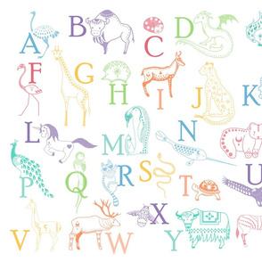 French alphabet white