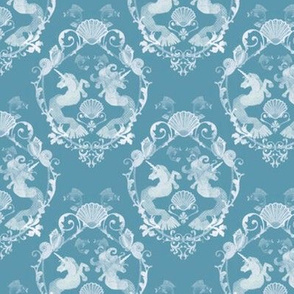 Underwater Damask Teal