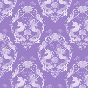 Underwater Damask Purple