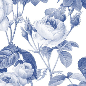 Belles Fleurs ~  Jolie Rayure ~ Willow Ware Blue and White
