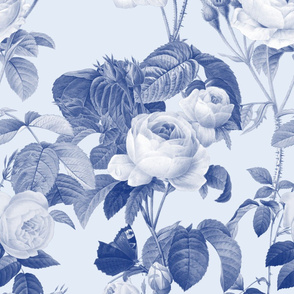 Belles Fleurs ~  Jolie Rayure ~ Willow Ware Blue and White on Bowie