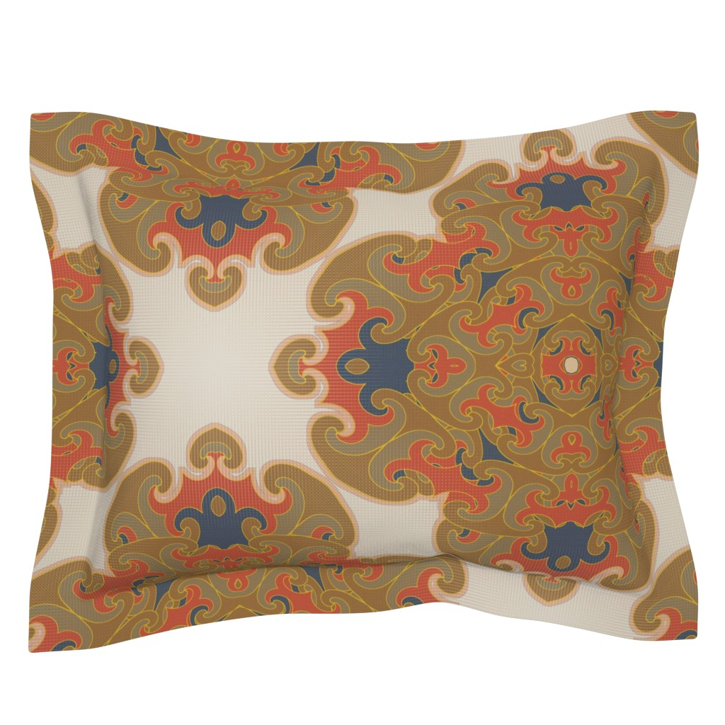 Sebright Pillow Sham featuring Terracroix (Genome) by david_kent_collections