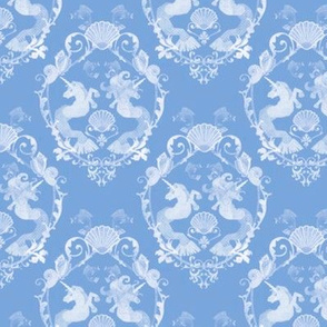 Underwater Damask Blue