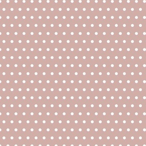 White Polka Dots On Mauve