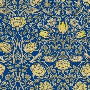 Medium Yellow Tudor Roses Navy
